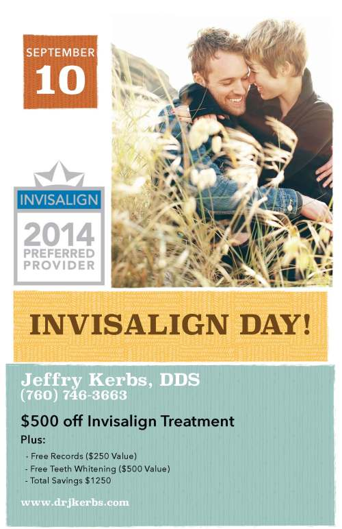 Escondido Invisalign Promotion with Dr. Jeffry Kerbs
